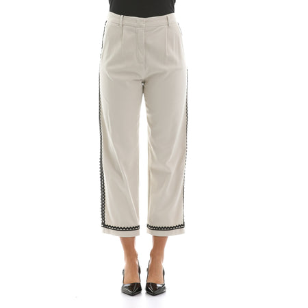 Max Mara Studio Cropped Cady Trousers