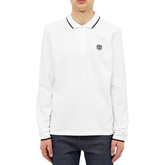 Kenzo Long Sleeve Cotton Polo