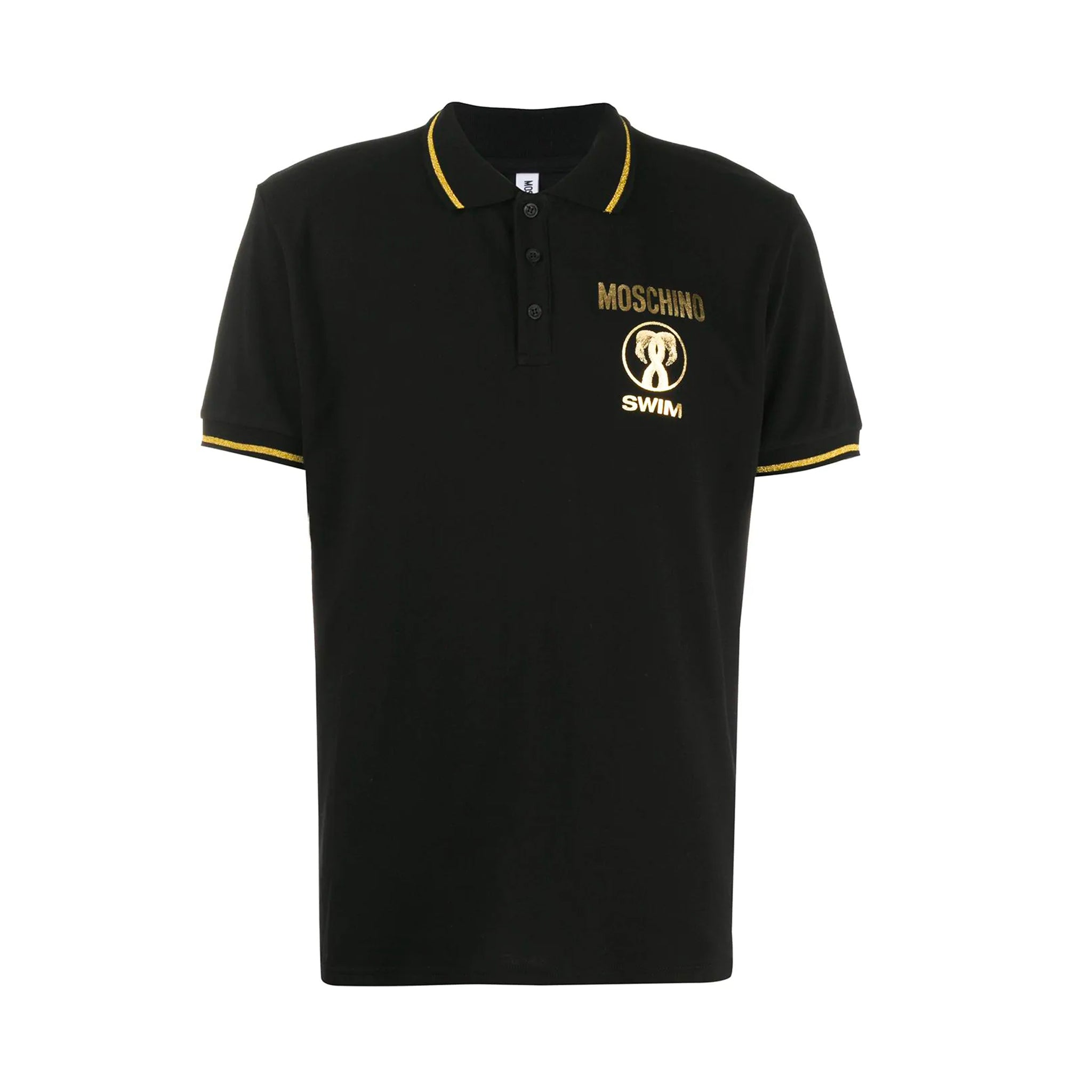 Moschino Swim Cotton Logo Polo Shirt