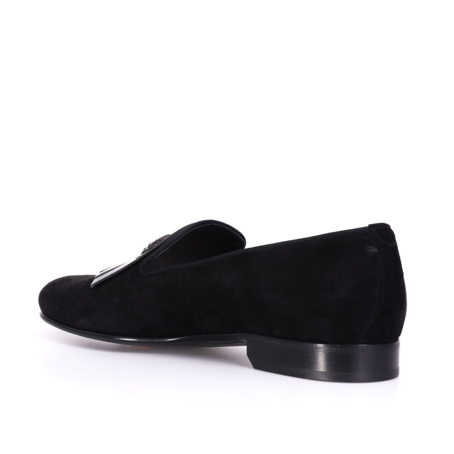 Dolce & Gabbana Crown Suede Loafers