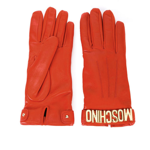 Leather Gloves-MOSCHINO-SHOPATVOI.COM - Luxury Fashion Designer