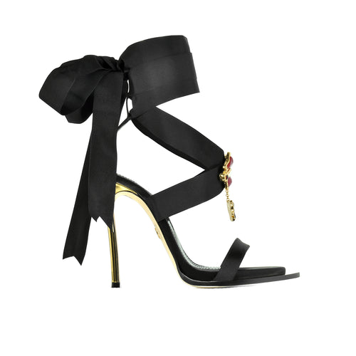 Dsquared2 Lace Up Satin Heel Sandals