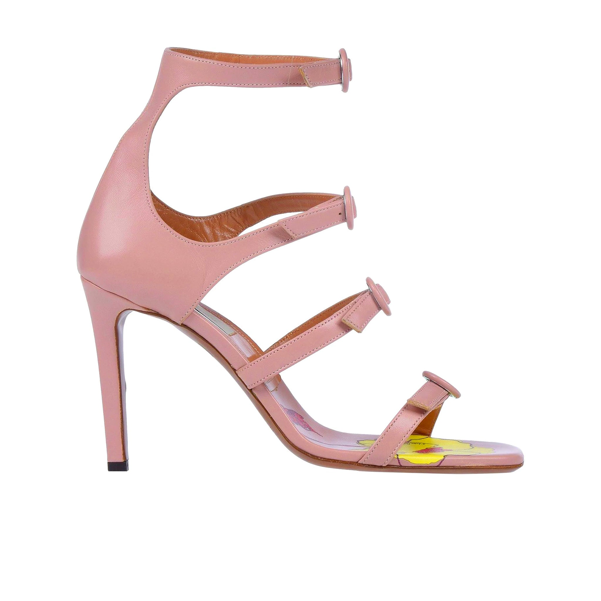 L'Autre Chose Leather Heel Sandals