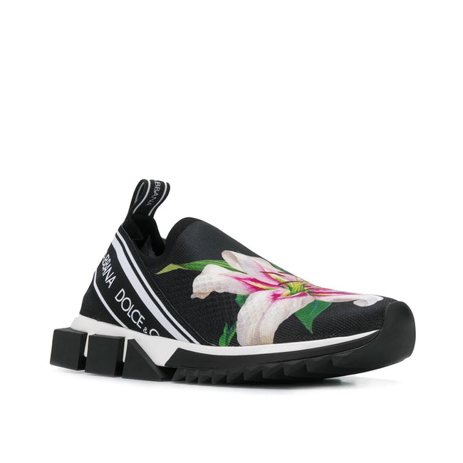 Dolce & Gabbana Lily Print Sorrento Sneakers