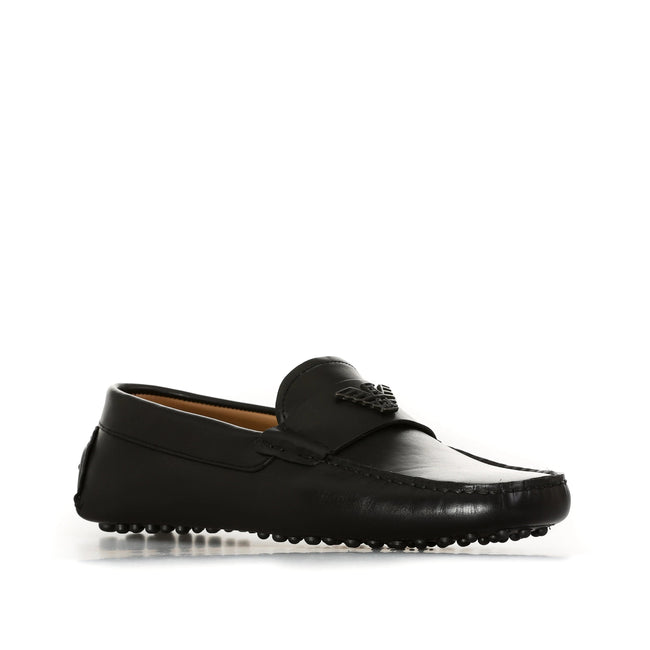 Emporio Armani Leather Loafers-EMPORIO ARMANI-SHOPATVOI.COM - Luxury Fashion Designer