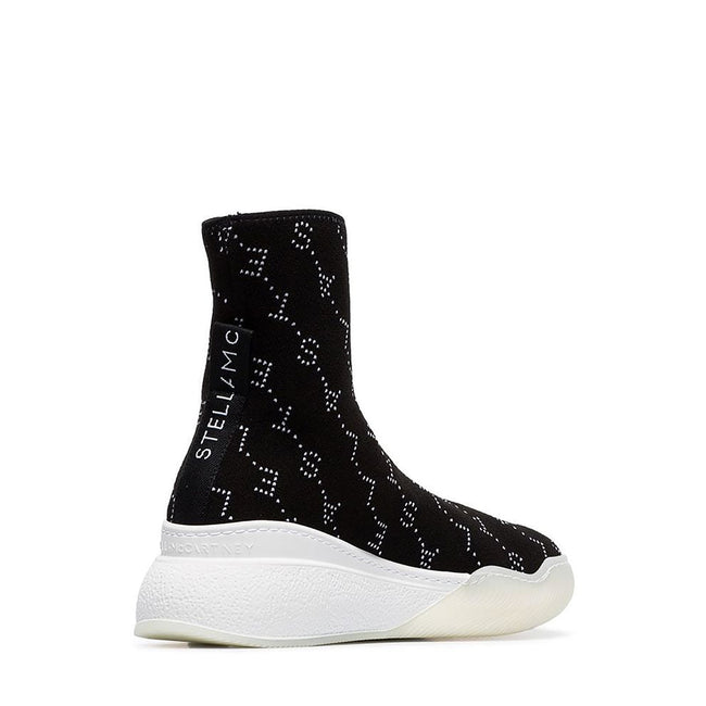 Stella Mccartney High Top Logo Sock Sneakers