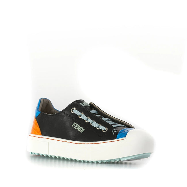 Fendi Leather Sneakers-FENDI-SHOPATVOI.COM - Luxury Fashion Designer