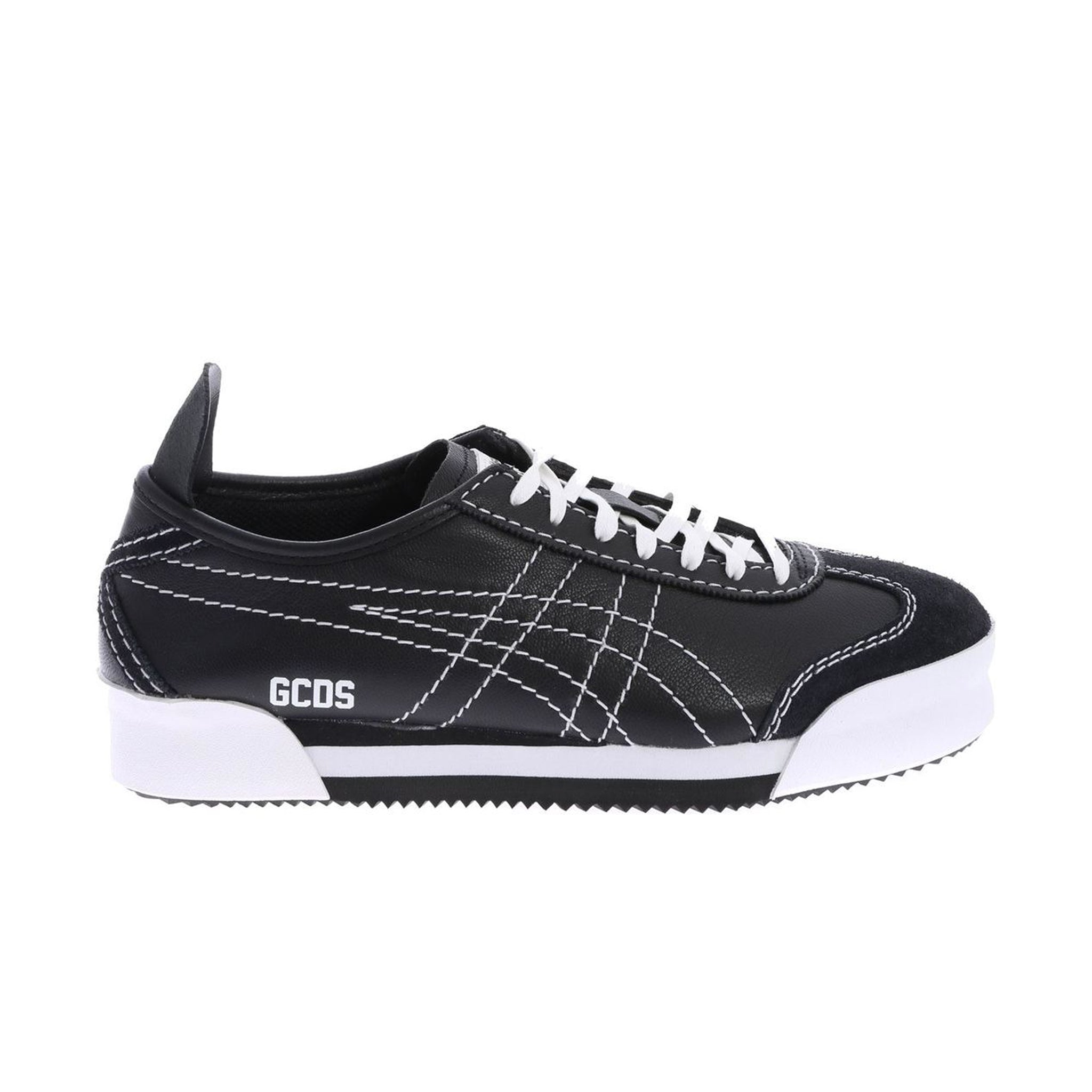 Gcds Logo Leather Sneakers