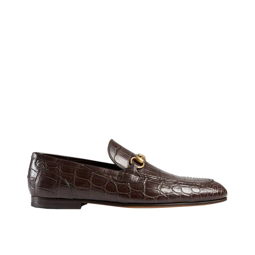 Gucci Horsebit Crocodile Loafer