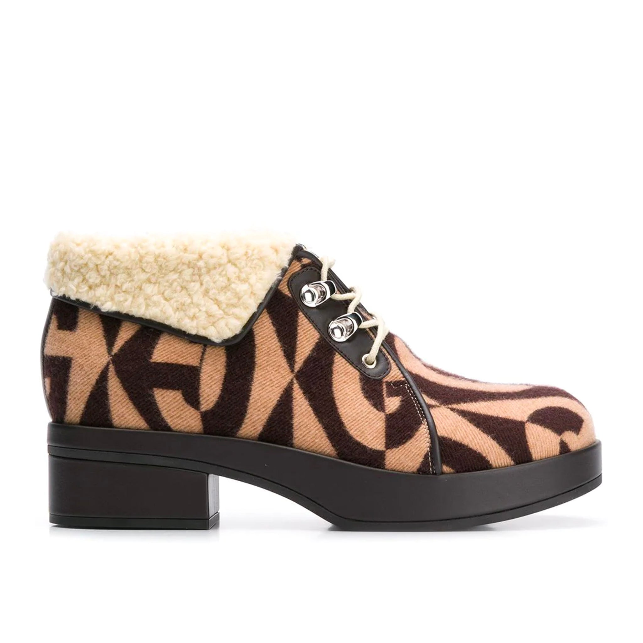 Gucci Monogram Print Ankle Boots