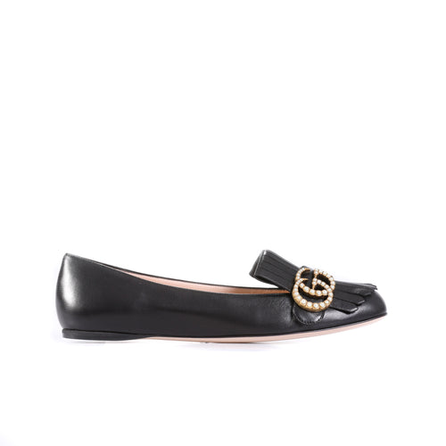 Gucci Fringed Leather Gg Flats