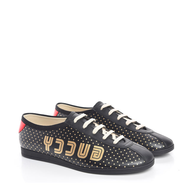 Gucci Falacer Stars Leather Sneakers