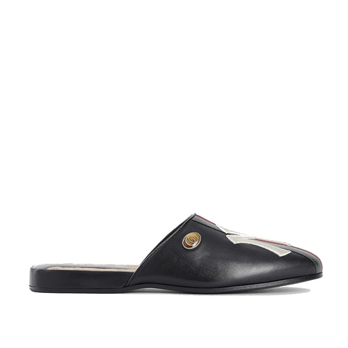 Gucci Ny Yankees Leather Slippers