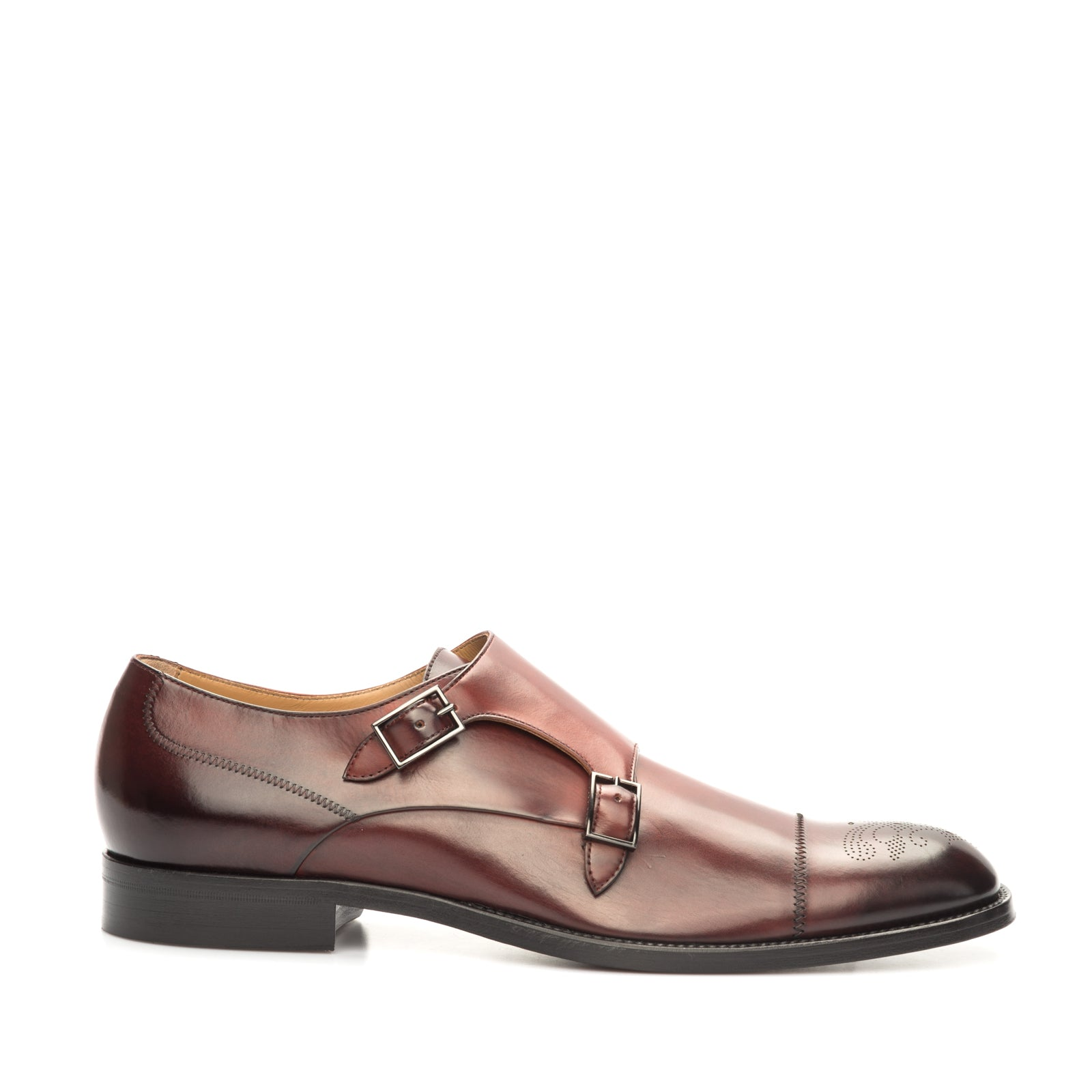 Double-Monk Leather Shoes-HUGO BOSS-SHOPATVOI.COM - Luxury Fashion Designer