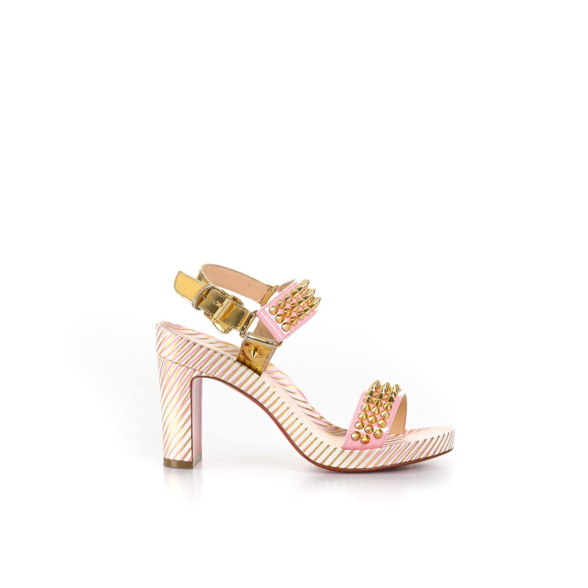 Spikes Leather Sandals-CHRISTIAN LOUBOUTIN-SHOPATVOI.COM - Luxury Fashion Designer