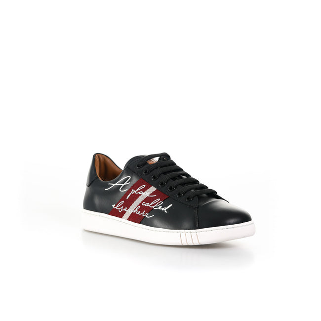 Leather Sneakers-BALLY-SHOPATVOI.COM - Luxury Fashion Designer