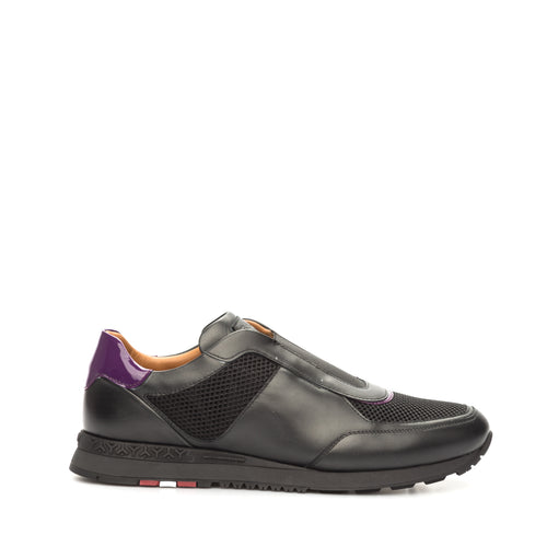 Leather And Fabric Sneakers-BALLY-SHOPATVOI.COM - Luxury Fashion Designer