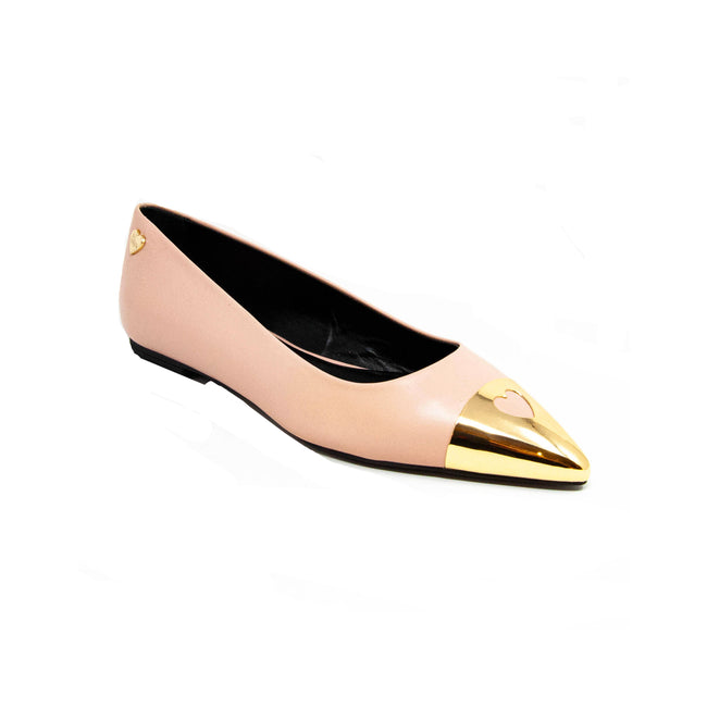 Love Moschino Leather Ballet Flats