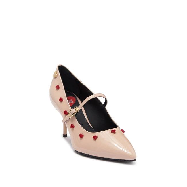 Love Moschino Heart Studded Mary Jane Pump