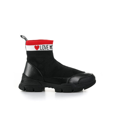 Love Moschino High Top Sock Sneakers-LOVE MOSCHINO-SHOPATVOI.COM - Luxury Fashion Designer