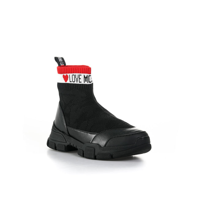 Love Moschino High Top Sock Sneakers