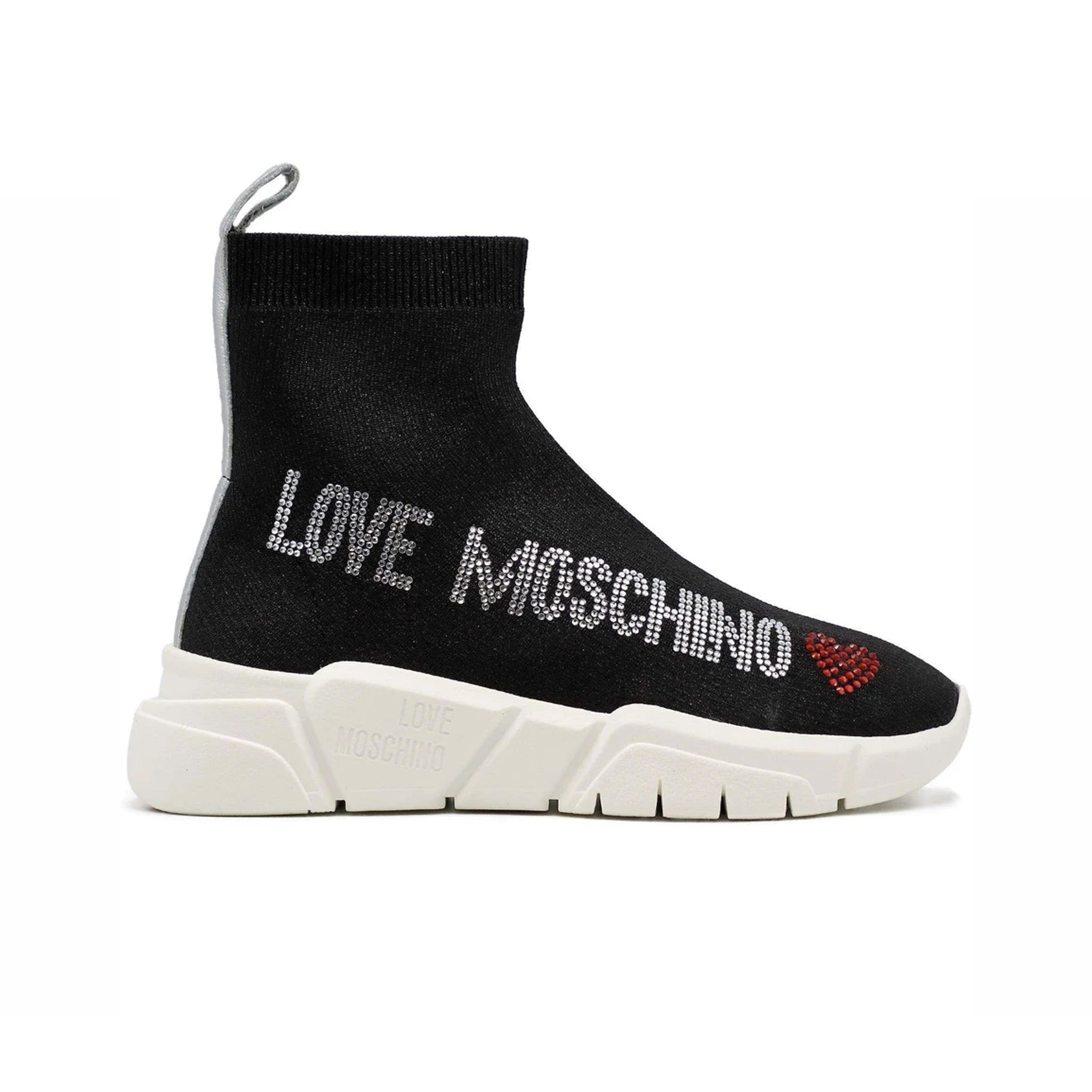 Love Moschino Fabric Logo Sock Sneakers