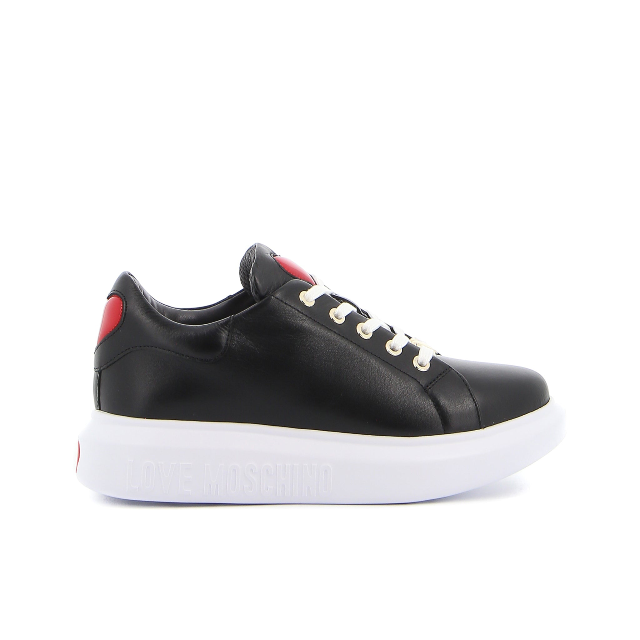 Love Moschino Heart Leather Sneakers