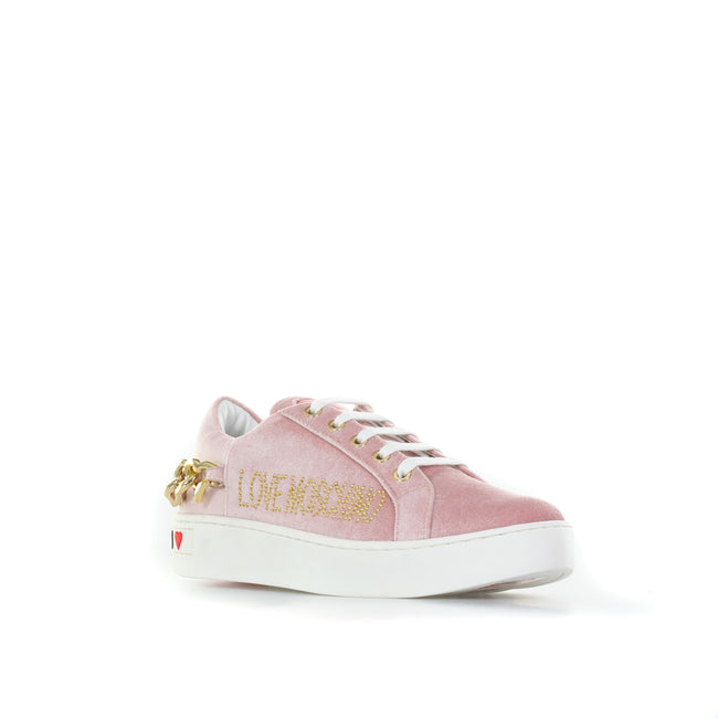 Love Moschino Velvet Sneakers-LOVE MOSCHINO-SHOPATVOI.COM - Luxury Fashion Designer