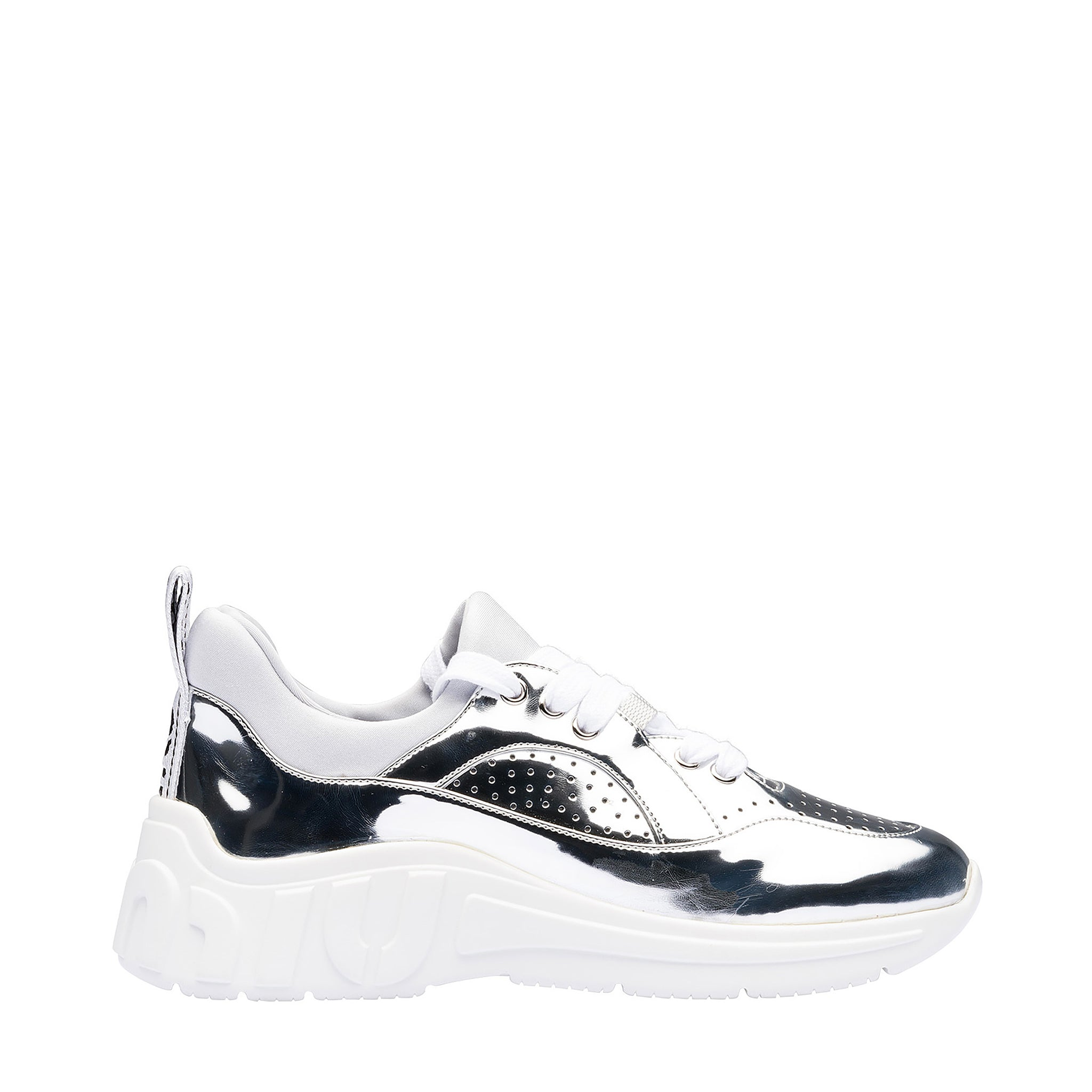 Miu Miu Metal Tech Leather Sneakers