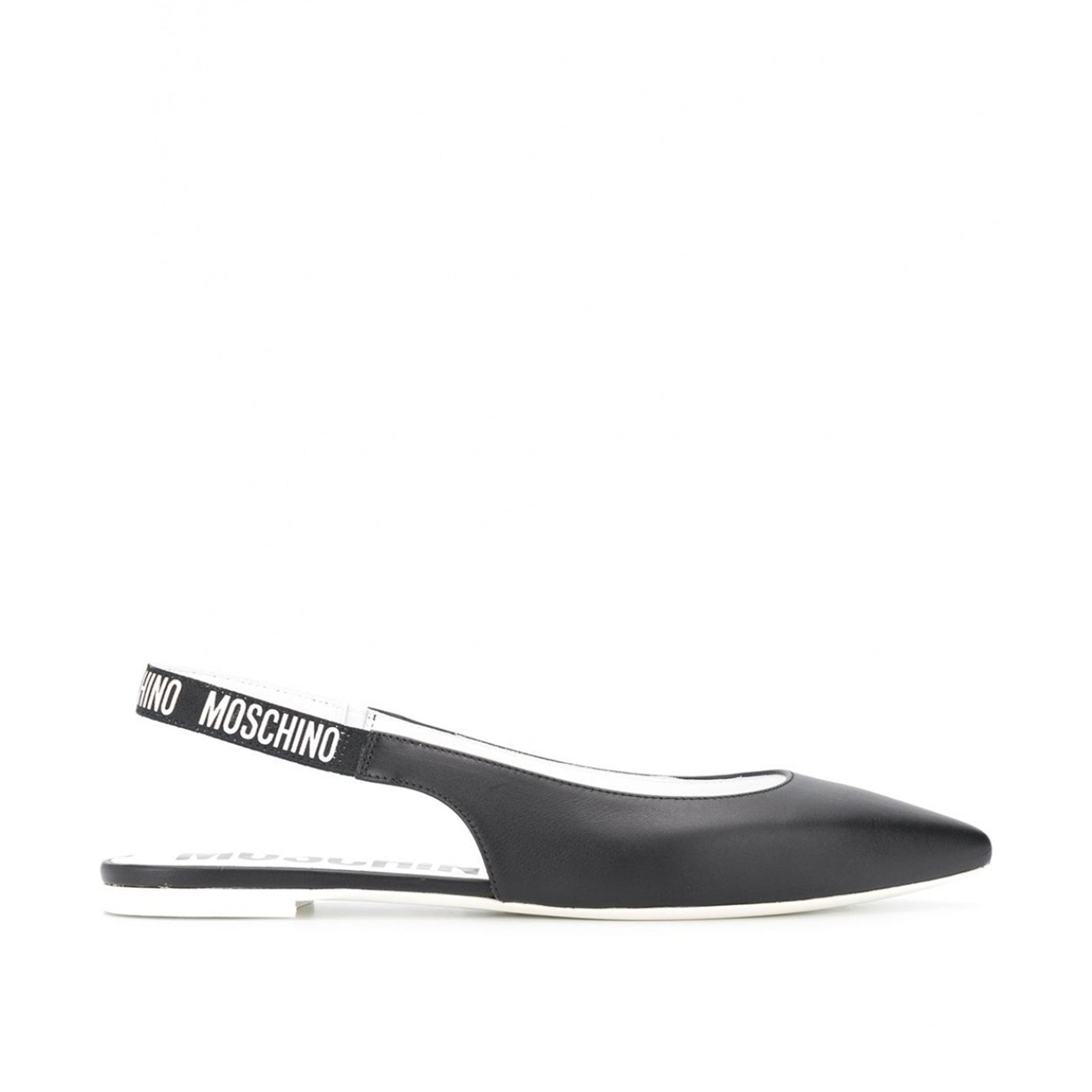 Moschino Couture Slingback Leather Flats