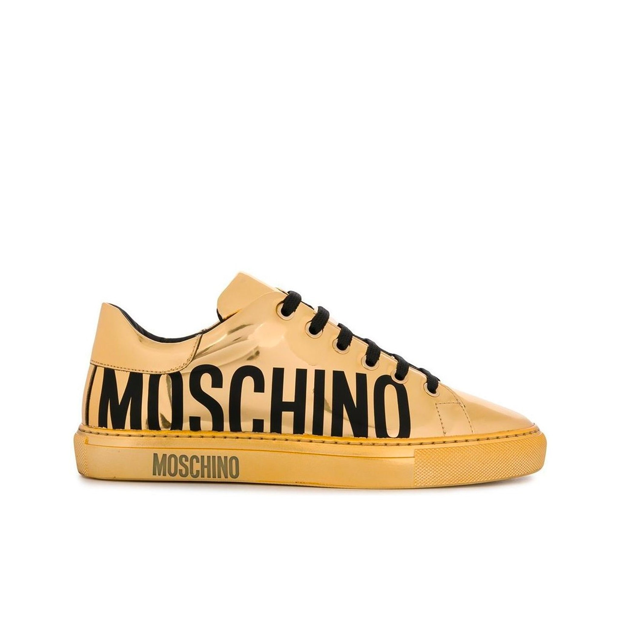 Moschino Couture Patent Logo Sneakers