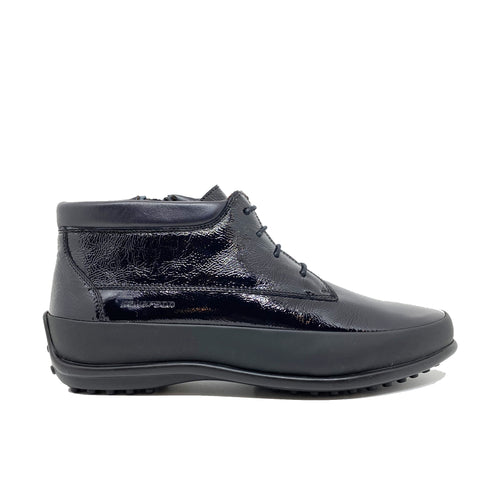 Pakerson Patent Leather Ankle Boots