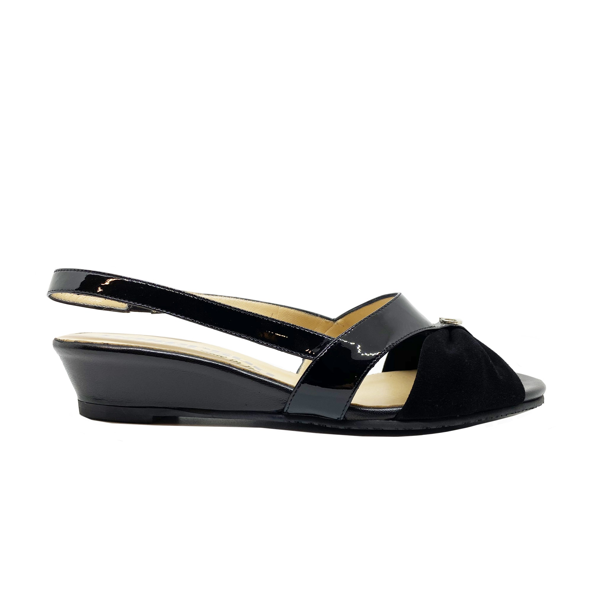 Pakerson Patent Leather And Suede Sanda