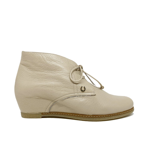 Pakerson Leather Wedge Ankle Boot