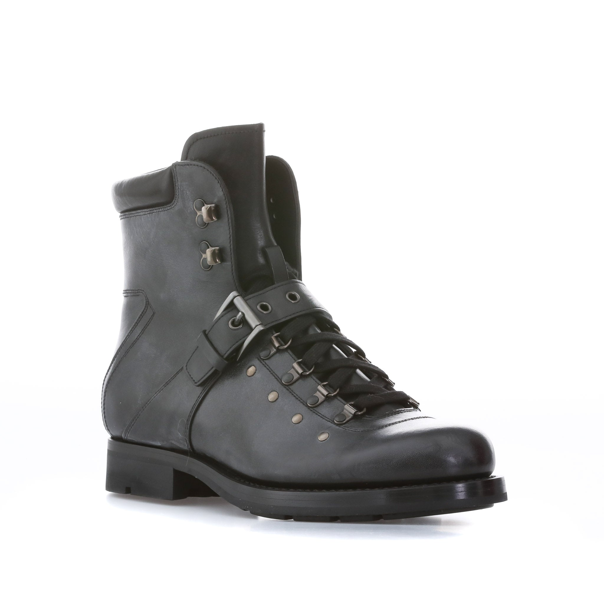 prada laced leather boots