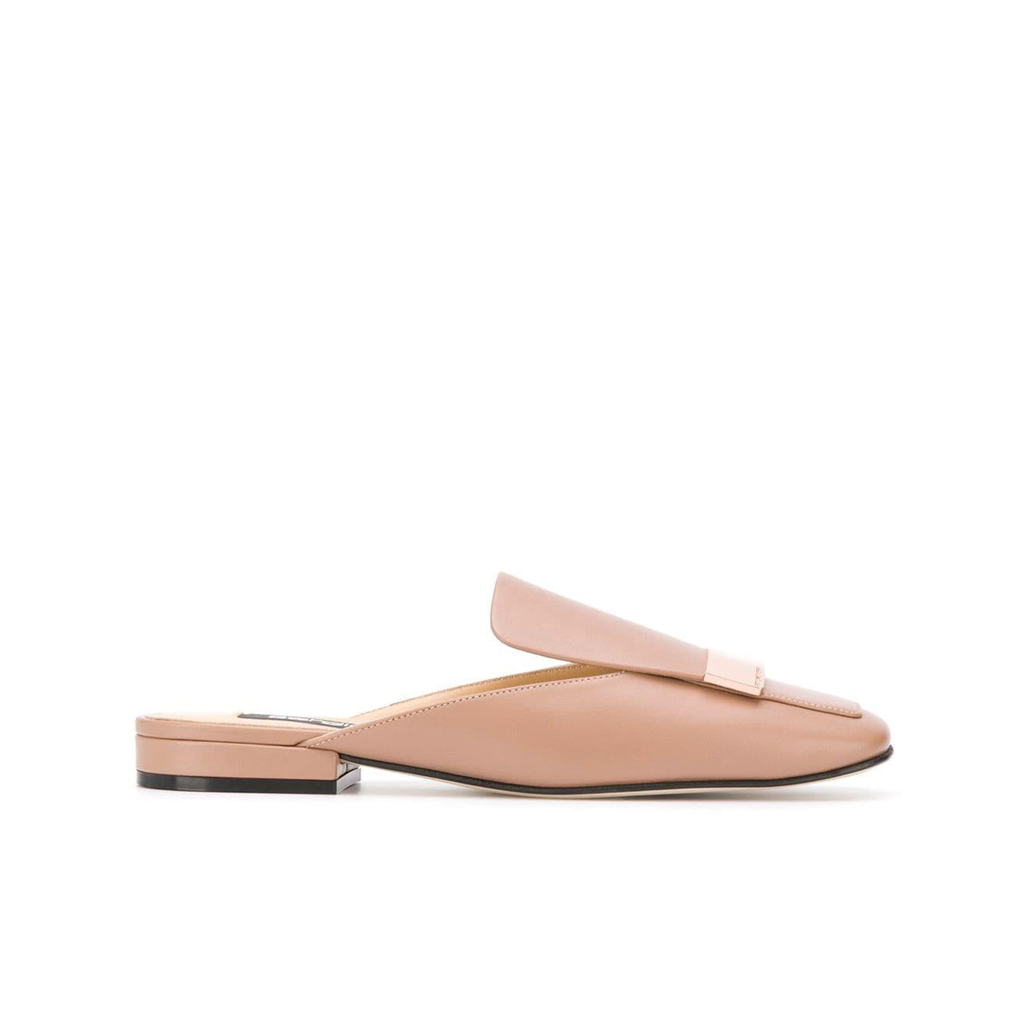 Sergio Rossi Sr1 Leather Flat Mules