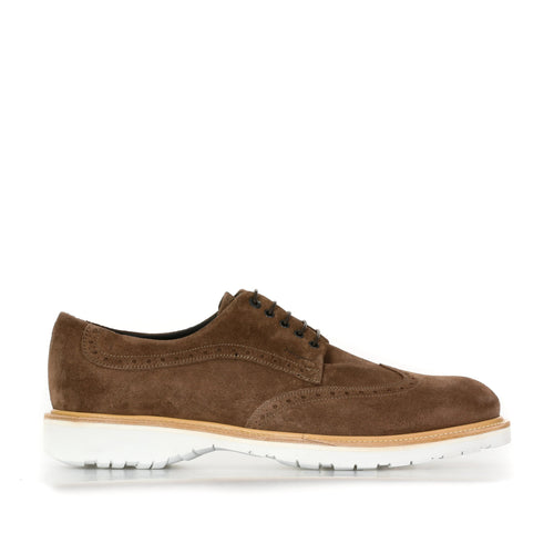 Salvatore Ferragamo Suede Derby Shoes-SALVATORE FERRAGAMO-SHOPATVOI.COM - Luxury Fashion Designer