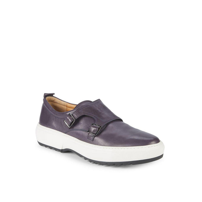 Salvatore Ferragamo Damon Leather Double Monk Shoe