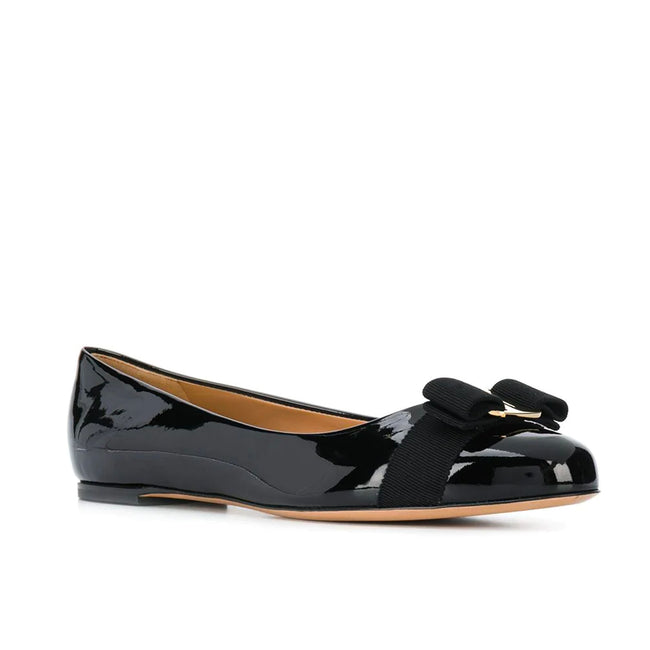 Salvatore Ferragamo Varina Bow Ballerina Shoes