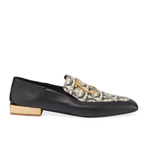Salvatore Ferragamo Lana T Leather Loafers