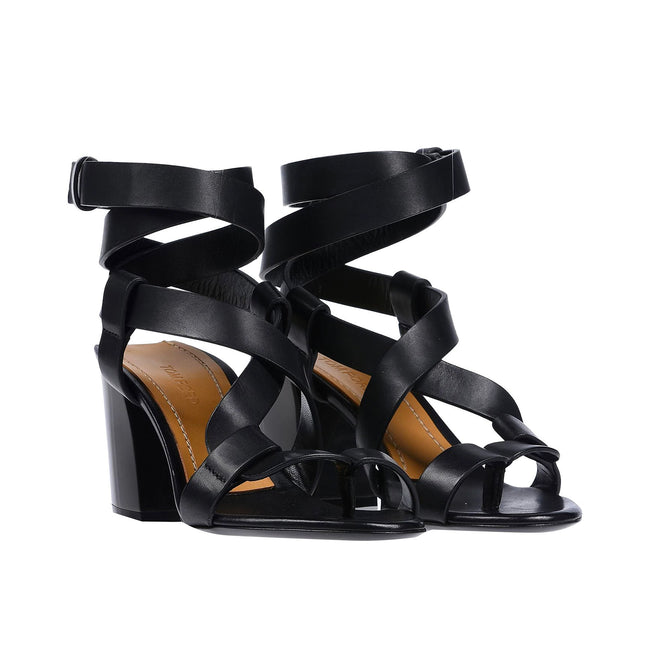 Tom Ford Leather Heel Sandals