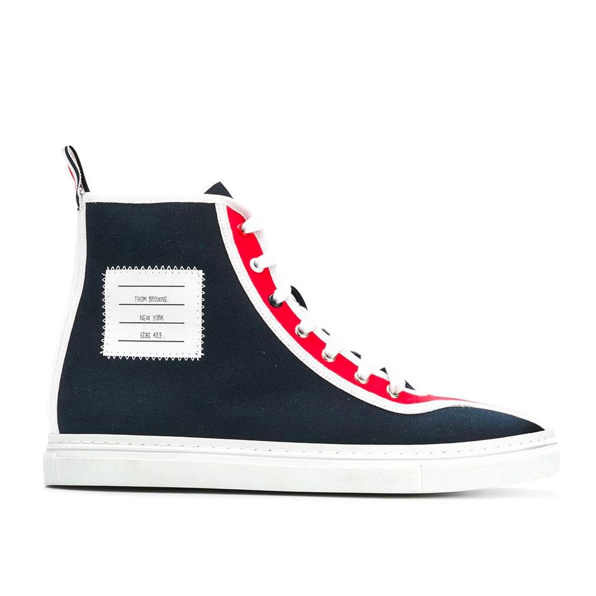 Thom Browne Hi-Top Cotton Trainers