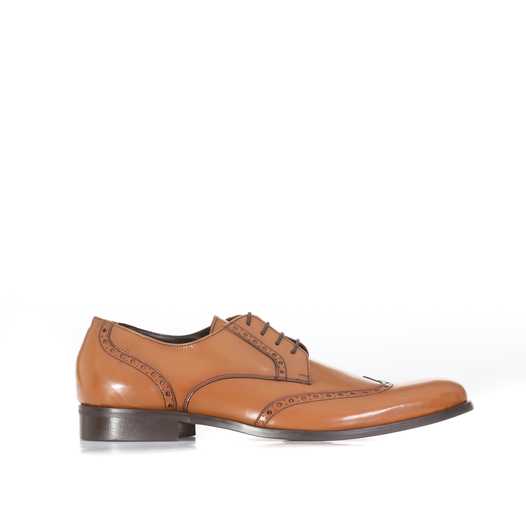 A. Testoni Leather Oxford Shoes