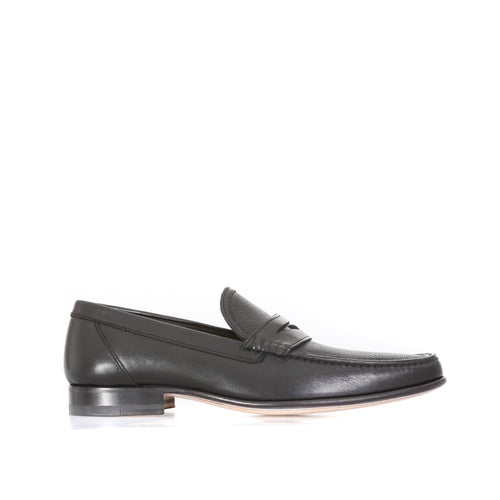 A. Testoni Leather Loafers