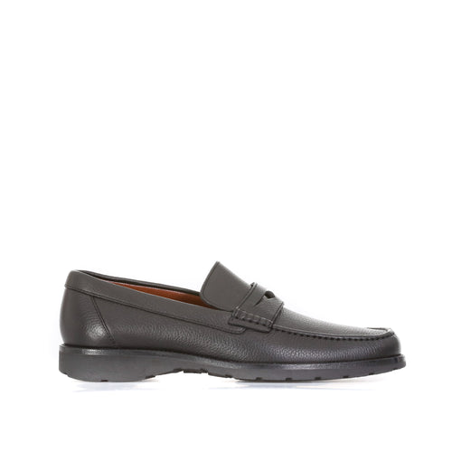 A. Testoni Leather Moccasins