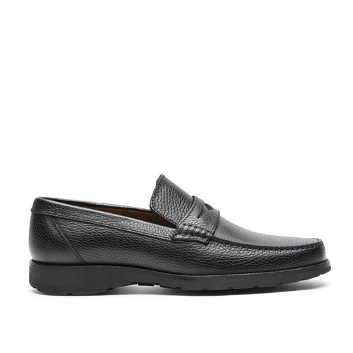 A. Testoni Embossed Leather Moccasins