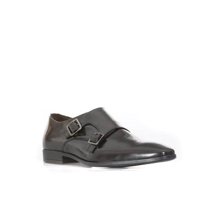 A. Testoni Double-Monk Leather Shoes