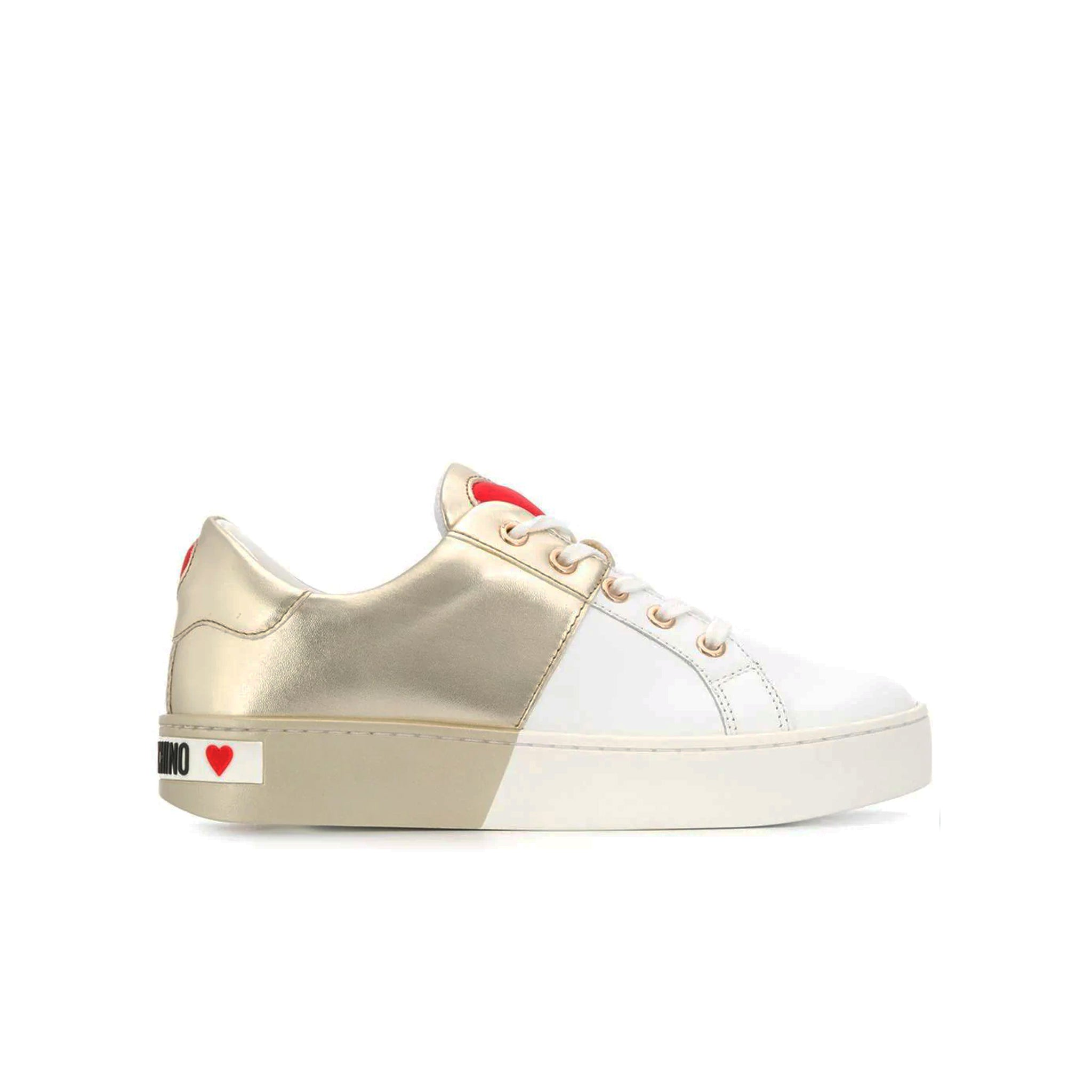 Love Moschino Bi-Colour Logo Sneakers