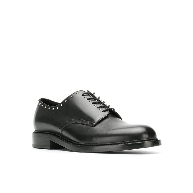 Saint Laurent Studded Leather Derby Shoes