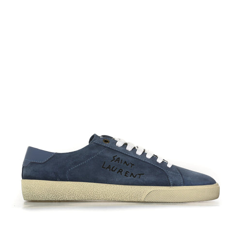 Yves Saint Laurent Court Classic Suede Sneakers-YVES SAINT LAURENT-SHOPATVOI.COM - Luxury Fashion Designer